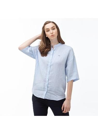 Lacoste Kadın Hakim Yaka Gömlek CF0057.57M Mavi